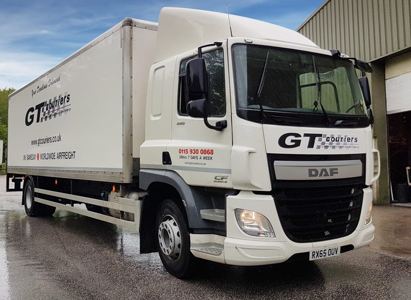 GT Couriers new DAF vehicle 18ton box body