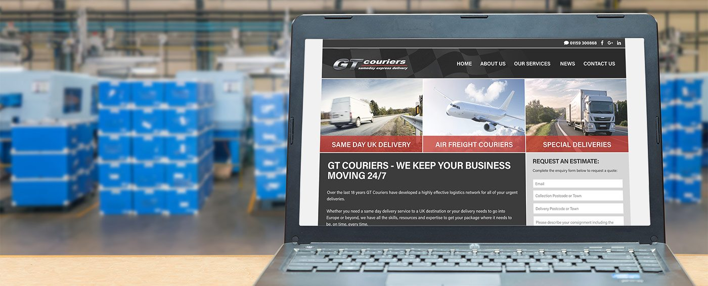 GT Couriers ask Gravity Digital to design bespoke website